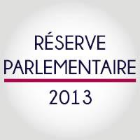 Réserve parlementaire 2013