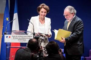 Remise du rapport par Edouard Couty à Marisol Touraine