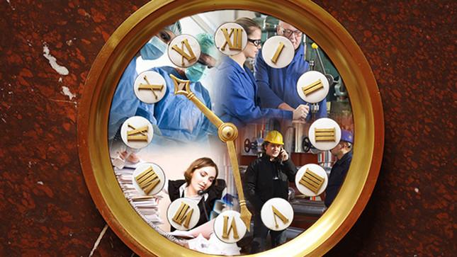 Horloge Hemicycle Photomontage Slide Full