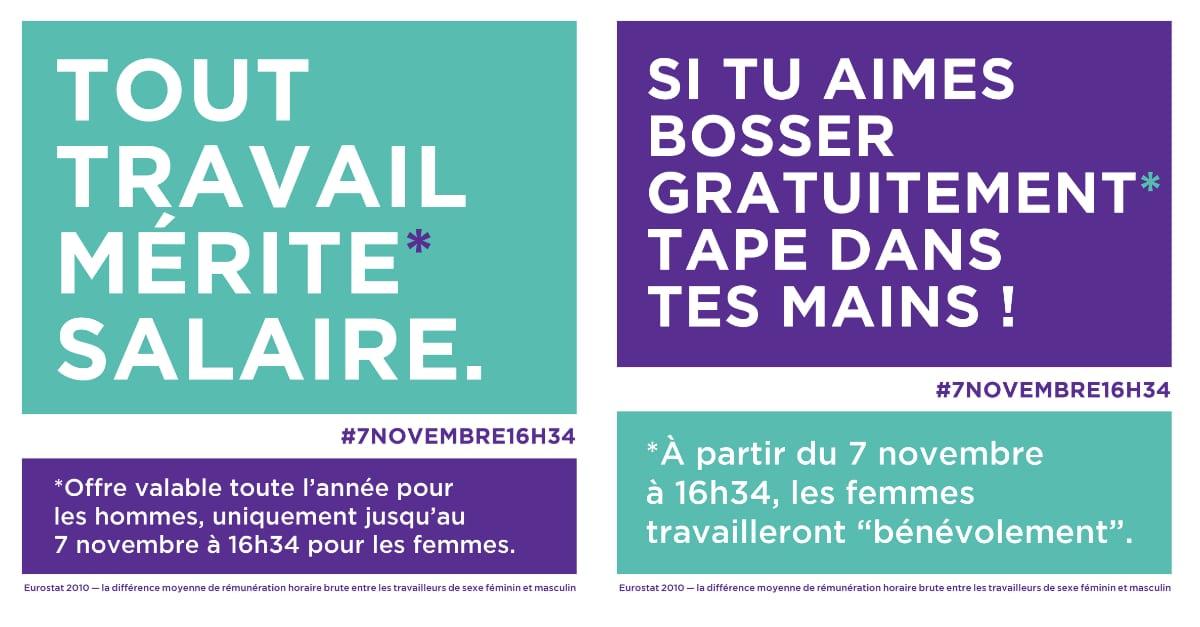 #7novembre16h34 : Un Appel Pour L'égalité Salariale